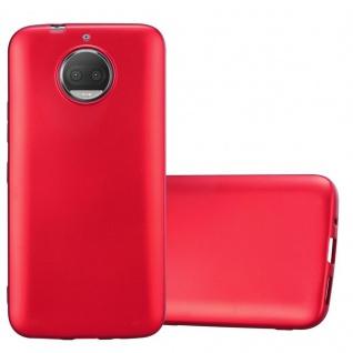 Cadorabo Hülle für Motorola MOTO G5S PLUS in METALLIC ROT - Handyhülle aus flexiblem TPU Silikon - Silikonhülle Schutzhülle Ultra Slim Soft Back Cover Case Bumper