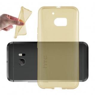 Cadorabo Hülle für HTC 10 (One M10) in TRANSPARENT GOLD - Handyhülle aus flexiblem TPU Silikon - Silikonhülle Schutzhülle Ultra Slim Soft Back Cover Case Bumper