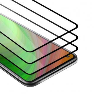 Cadorabo 3x Vollbild Panzer Folie kompatibel mit Xiaomi Redmi 10X 4G Schutzfolie in TRANSPARENT mit SCHWARZ 3er Pack Gehärtetes (Tempered) Display-Schutzglas in 9H Härte mit 3D Touch