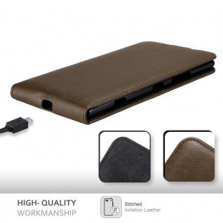 Cadorabo Hülle für Nokia Lumia 1520 in KAFFEE BRAUN - Handyhülle im Flip Design mit unsichtbarem Magnetverschluss - Case Cover Schutzhülle Etui Tasche Book Klapp Style - Vorschau 5