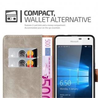 Cadorabo Hülle für Nokia Lumia 650 in CAPPUCCINO BRAUN ? Handyhülle mit Magnetverschluss, Standfunktion und Kartenfach ? Case Cover Schutzhülle Etui Tasche Book Klapp Style - Vorschau 3