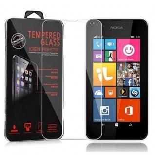 Cadorabo Panzer Folie für Nokia Lumia 540 - Schutzfolie in KRISTALL KLAR - Gehärtetes (Tempered) Display-Schutzglas in 9H Härte mit 3D Touch Kompatibilität