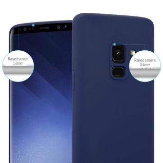 Cadorabo Hülle für Samsung Galaxy S9 in CANDY DUNKEL BLAU - Handyhülle aus flexiblem TPU Silikon - Silikonhülle Schutzhülle Ultra Slim Soft Back Cover Case Bumper - Vorschau 5