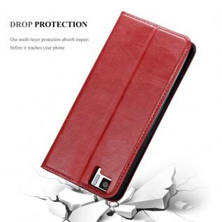 Cadorabo Hülle für BQ Aquaris M5 in APFEL ROT Handyhülle mit Magnetverschluss, Standfunktion und Kartenfach Case Cover Schutzhülle Etui Tasche Book Klapp Style - Vorschau 5
