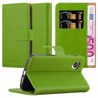 Cadorabo Hülle für LG NEXUS 5 in GRAS GRÜN - Handyhülle mit Magnetverschluss, Standfunktion und Kartenfach - Case Cover Schutzhülle Etui Tasche Book Klapp Style