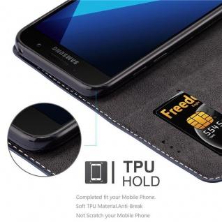 Cadorabo Hülle für Samsung Galaxy A3 2017 in BLAU BRAUN ? Handyhülle mit Magnetverschluss, Standfunktion und Kartenfach ? Case Cover Schutzhülle Etui Tasche Book Klapp Style - Vorschau 2