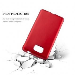 Cadorabo Hülle für Samsung Galaxy ALPHA in METALLIC ROT - Handyhülle aus flexiblem TPU Silikon - Silikonhülle Schutzhülle Ultra Slim Soft Back Cover Case Bumper - Vorschau 3