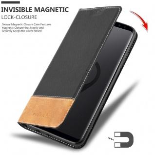 Cadorabo Hülle für Samsung Galaxy S9 PLUS in SCHWARZ BRAUN ? Handyhülle mit Magnetverschluss, Standfunktion und Kartenfach ? Case Cover Schutzhülle Etui Tasche Book Klapp Style - Vorschau 3