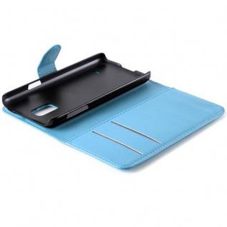 Cadorabo Hülle für Samsung Galaxy S5 MINI / S5 MINI DUOS in PASTEL BLAU - Handyhülle mit Magnetverschluss, Standfunktion und Kartenfach - Case Cover Schutzhülle Etui Tasche Book Klapp Style - Vorschau 5