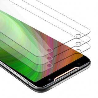 Cadorabo 3x Panzer Folie für Asus ROG Phone 2 - Schutzfolie in KRISTALL KLAR - 3er Pack Gehärtetes (Tempered) Display-Schutzglas in 9H Härte mit 3D Touch Kompatibilität