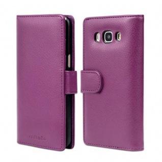 Cadorabo Hülle für Samsung Galaxy J5 2016 in BORDEAUX LILA - Handyhülle mit Magnetverschluss und 3 Kartenfächern - Case Cover Schutzhülle Etui Tasche Book Klapp Style