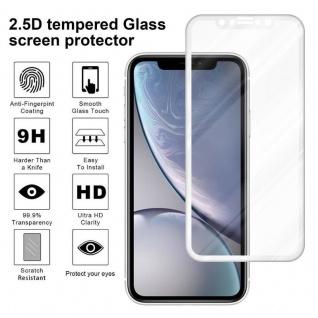 Cadorabo Vollbild Panzer Folie für Apple iPhone XR - Schutzfolie in TRANSPARENT mit WEISS - Gehärtetes (Tempered) Display-Schutzglas in 9H Härte mit 3D Touch Kompatibilität - Vorschau 4