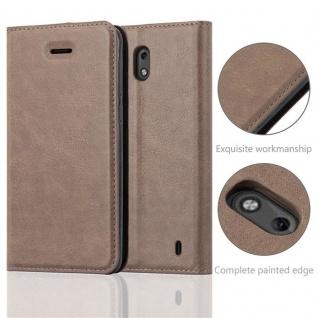 Cadorabo Hülle für Nokia 2 2017 in KAFFEE BRAUN - Handyhülle mit Magnetverschluss, Standfunktion und Kartenfach - Case Cover Schutzhülle Etui Tasche Book Klapp Style - Vorschau 2