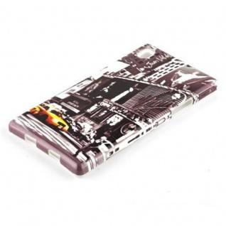 Cadorabo - Hard Cover für Sony Xperia Z1 - Case Cover Schutzhülle Bumper im Design: NEW YORK CAB - Vorschau 2