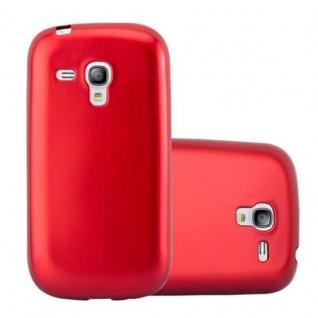 Cadorabo Hülle für Samsung Galaxy S3 MINI in METALLIC ROT - Handyhülle aus flexiblem TPU Silikon - Silikonhülle Schutzhülle Ultra Slim Soft Back Cover Case Bumper