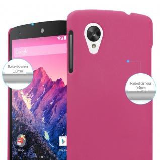 Cadorabo Hülle für LG Nexus 5 in FROSTY PINK - Hardcase Handyhülle aus Plastik gegen Kratzer und Stöße - Schutzhülle Bumper Ultra Slim Back Case Hard Cover - Vorschau 4