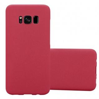 Cadorabo Hülle für Samsung Galaxy S8 in FROSTY ROT Hardcase Handyhülle aus Plastik gegen Kratzer und Stöße Schutzhülle Bumper Ultra Slim Back Case Hard Cover