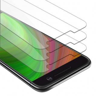 Cadorabo 3x Panzer Folie für HTC M10 - Schutzfolie in KRISTALL KLAR - 3er Pack Gehärtetes (Tempered) Display-Schutzglas in 9H Härte mit 3D Touch Kompatibilität