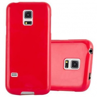Cadorabo Hülle für Samsung Galaxy S5 / S5 NEO in JELLY ROT ? Handyhülle aus flexiblem TPU Silikon ? Silikonhülle Schutzhülle Ultra Slim Soft Back Cover Case Bumper