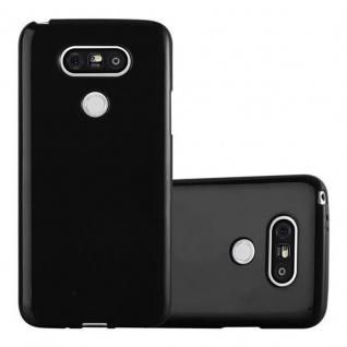 Cadorabo Hülle für LG G5 in JELLY SCHWARZ ? Handyhülle aus flexiblem TPU Silikon ? Silikonhülle Schutzhülle Ultra Slim Soft Back Cover Case Bumper