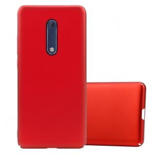 Cadorabo Hülle für Nokia 5 2017 in METALL ROT Hardcase Handyhülle aus Plastik gegen Kratzer und Stöße Schutzhülle Bumper Ultra Slim Back Case Hard Cover