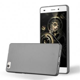 Cadorabo Hülle für Huawei P8 LITE 2015 in METALLIC GRAU - Handyhülle aus flexiblem TPU Silikon - Silikonhülle Schutzhülle Ultra Slim Soft Back Cover Case Bumper