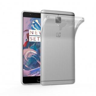 Cadorabo Hülle für OnePlus 3 / 3T - Hülle in VOLL TRANSPARENT ? Handyhülle aus TPU Silikon im Ultra Slim 'AIR' Design - Ultra Slim Soft Backcover Case Bumper