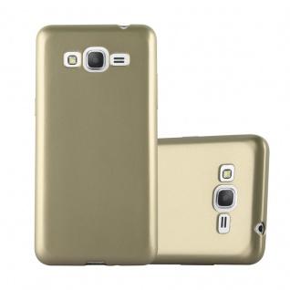 Cadorabo Hülle für Samsung Galaxy GRAND PRIME in METALLIC GOLD - Handyhülle aus flexiblem TPU Silikon - Silikonhülle Schutzhülle Ultra Slim Soft Back Cover Case Bumper