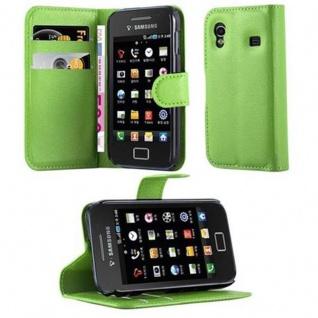 Cadorabo Hülle für Samsung Galaxy ACE 1 in MINZ GRÜN - Handyhülle mit Magnetverschluss, Standfunktion und Kartenfach - Case Cover Schutzhülle Etui Tasche Book Klapp Style
