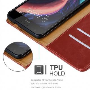 Cadorabo Hülle für HTC Desire 10 Lifestyle / Desire 825 in WEIN ROT - Handyhülle mit Magnetverschluss, Standfunktion und Kartenfach - Case Cover Schutzhülle Etui Tasche Book Klapp Style - Vorschau 3