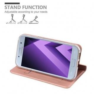 Cadorabo Hülle für Samsung Galaxy A3 2017 in CLASSY ROSÉ GOLD - Handyhülle mit Magnetverschluss, Standfunktion und Kartenfach - Case Cover Schutzhülle Etui Tasche Book Klapp Style - Vorschau 4