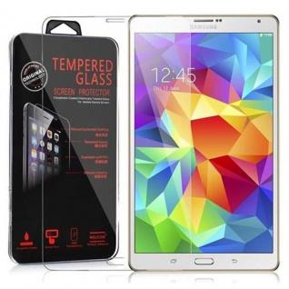 Cadorabo Panzer Folie für Samsung Galaxy Tab S (8, 4 Zoll) - Schutzfolie in KRISTALL KLAR - Gehärtetes (Tempered) Display-Schutzglas in 9H Härte mit 3D Touch Kompatibilität