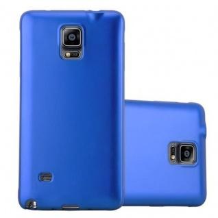 Cadorabo Hülle für Samsung Galaxy NOTE 4 in METALLIC BLAU - Handyhülle aus flexiblem TPU Silikon - Silikonhülle Schutzhülle Ultra Slim Soft Back Cover Case Bumper