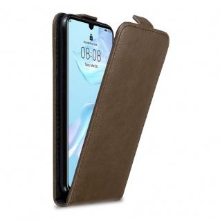 Cadorabo Hülle für Huawei P30 in KAFFEE BRAUN - Handyhülle im Flip Design mit Magnetverschluss - Case Cover Schutzhülle Etui Tasche Book Klapp Style