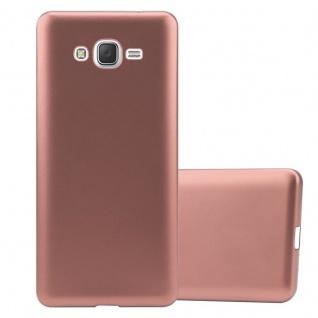 Cadorabo Hülle für Samsung Galaxy J7 2015 in METALLIC ROSÉ GOLD - Handyhülle aus flexiblem TPU Silikon - Silikonhülle Schutzhülle Ultra Slim Soft Back Cover Case Bumper
