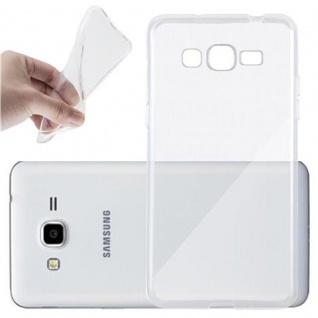 Cadorabo Hülle für Samsung Galaxy GRAND PRIME in VOLL TRANSPARENT - Handyhülle aus flexiblem TPU Silikon - Silikonhülle Schutzhülle Ultra Slim Soft Back Cover Case Bumper