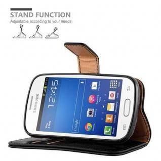 Cadorabo Hülle für Samsung Galaxy TREND LITE in GRAPHIT SCHWARZ ? Handyhülle mit Magnetverschluss, Standfunktion und Kartenfach ? Case Cover Schutzhülle Etui Tasche Book Klapp Style - Vorschau 5