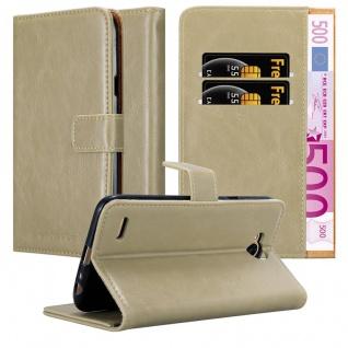 Cadorabo Hülle für LG X Power 2 in CAPPUCCINO BRAUN - Handyhülle mit Magnetverschluss, Standfunktion und Kartenfach - Case Cover Schutzhülle Etui Tasche Book Klapp Style