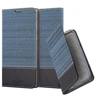 Cadorabo Hülle für Sony Xperia L1 in DUNKEL BLAU SCHWARZ - Handyhülle mit Magnetverschluss, Standfunktion und Kartenfach - Case Cover Schutzhülle Etui Tasche Book Klapp Style
