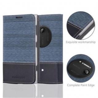 Cadorabo Hülle für Nokia Lumia 1020 in DUNKEL BLAU SCHWARZ - Handyhülle mit Magnetverschluss, Standfunktion und Kartenfach - Case Cover Schutzhülle Etui Tasche Book Klapp Style - Vorschau 2