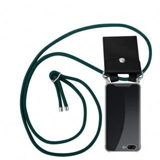 Cadorabo Handy Kette für OnePlus 5 in ARMEE GRÜN - Silikon Necklace Umhänge Hülle mit Silber Ringen, Kordel Band Schnur und abnehmbarem Etui - Schutzhülle