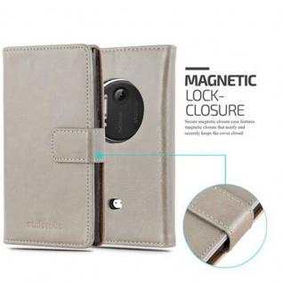 Cadorabo Hülle für Nokia Lumia 1020 in CAPPUCCINO BRAUN ? Handyhülle mit Magnetverschluss, Standfunktion und Kartenfach ? Case Cover Schutzhülle Etui Tasche Book Klapp Style - Vorschau 2