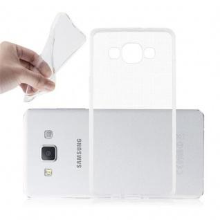 Cadorabo Hülle für Samsung Galaxy A5 2015 in VOLL TRANSPARENT - Handyhülle aus flexiblem TPU Silikon - Silikonhülle Schutzhülle Ultra Slim Soft Back Cover Case Bumper