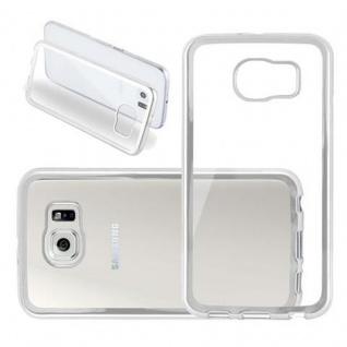 Cadorabo Hülle für Samsung Galaxy S6 - Hülle in TRANSPARENT mit CHROM SILBER ? Handyhülle aus TPU Silikon im Chrom Design - Ultra Slim Soft Backcover Case Bumper