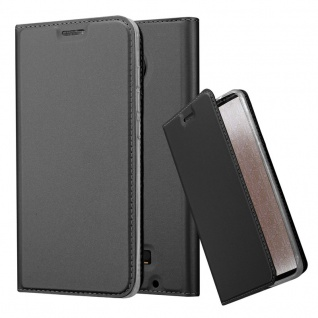 Cadorabo Hülle für Motorola MOTO Z in CLASSY SCHWARZ - Handyhülle mit Magnetverschluss, Standfunktion und Kartenfach - Case Cover Schutzhülle Etui Tasche Book Klapp Style
