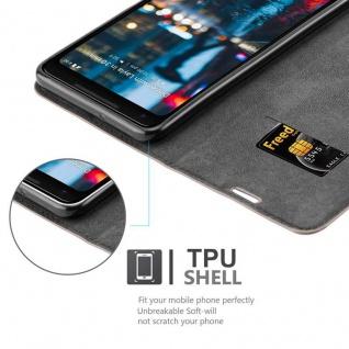 Cadorabo Hülle für Google Pixel 2 XL in KAFFEE BRAUN - Handyhülle mit Magnetverschluss, Standfunktion und Kartenfach - Case Cover Schutzhülle Etui Tasche Book Klapp Style - Vorschau 2