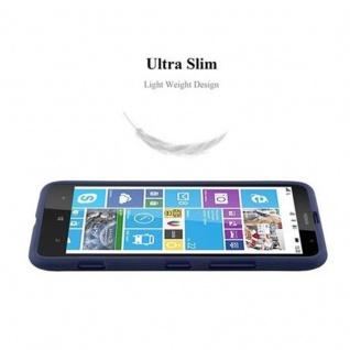 Cadorabo Hülle für Nokia Lumia 1320 in FROST DUNKEL BLAU - Handyhülle aus flexiblem TPU Silikon - Silikonhülle Schutzhülle Ultra Slim Soft Back Cover Case Bumper - Vorschau 5
