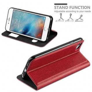 Cadorabo Hülle für Apple iPhone 6 / iPhone 6S in SAFRAN ROT ? Handyhülle mit Magnetverschluss, Standfunktion und 2 Sichtfenstern ? Case Cover Schutzhülle Etui Tasche Book Klapp Style - Vorschau 3