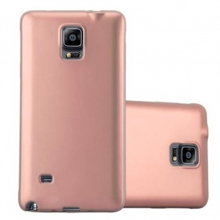 Cadorabo Hülle für Samsung Galaxy NOTE 4 in METALLIC ROSE GOLD - Handyhülle aus flexiblem TPU Silikon - Silikonhülle Schutzhülle Ultra Slim Soft Back Cover Case Bumper