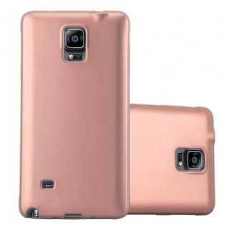Cadorabo Hülle für Samsung Galaxy NOTE 4 in METALLIC ROSE GOLD Handyhülle aus flexiblem TPU Silikon Silikonhülle Schutzhülle Ultra Slim Soft Back Cover Case Bumper